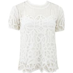 RAG & BONE Nancy Lace Blouse found on Polyvore