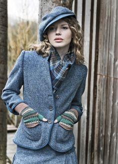 Harris Tweed Jacket and Fair Isle gloves