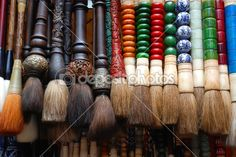 Traditional Chinese Caligraphy Brushes