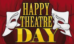 Illustration about Illuminated stage with fancy red curtains, tied and decorated with comedy and tragedy masks wishing at you a Happy Theatre Day. Illustration of character, illumination, entertainment - 176822016 World Theatre Day, Tragedy Mask, Comedy And Tragedy, Curtain Ties, Red Curtains, Disney Characters, Fictional Characters, Stage, Masks