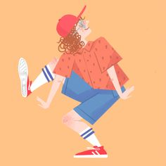 Free Art - Person in casual clothes doing a dance move - Mixkit