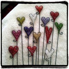 Krokpärla Luffarslöjd: Blompinnar / trasselhjärtan