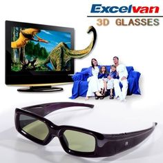 Excelvan Rechargeable 3D Active Glasses Black For Panasonic viera TC-P55st30 TC-P65ST30 by Excelvan. $32.99