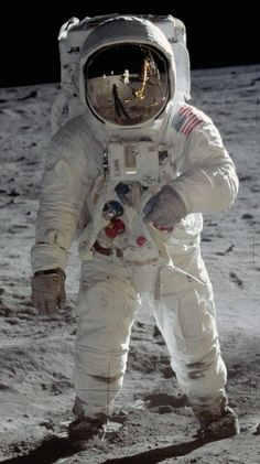 On the Lunar surface with Buzz Aldrin in his A7L suit