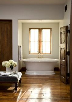 I like the niche for the tub. At least one would be out of the moving air and curtains could be added to further keep one warm. So many of the bathrooms have tubs out in the open which would be unpleasantly cold!!!!
