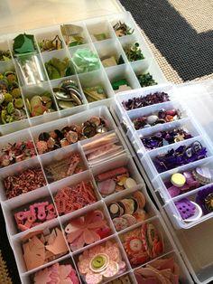organizing embellishments by color - Scrapbook.com