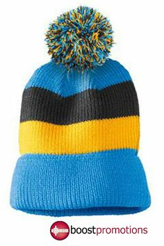 8e5eefef14c Striped Beanie with removable Pom Pom Eugene Oregon