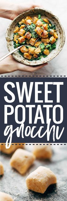 The easiest and best way to make Sweet Potato Gnocchi! Serve it with broccoli rabe and garlic sage butter sauce for a BOMB meal. | pinchofyum.com