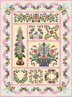 P3 Designs: Shop   Category: Forever Blooming 2014 BOM   Product: P3-2119 BOM Scallop Border