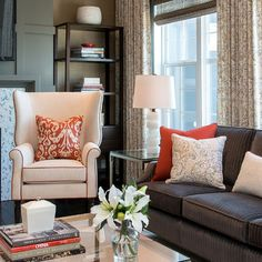 Fireplace paneling: Hospital Home Lottery Fall 2012 - contemporary - living room - other metro - Atmosphere Interior Design Inc.
