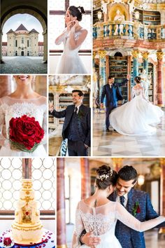 Let your personality run wild when planning your dream wedding day. This Beauty & the Beast themed wedding is playful, yet truly romantic | Photographer: Kathy Baerg | Planner: Veronique Luxury Wedding | Venue: Kloster Wiblingen | Dress: TIFFS Concept Store Bridal | Suit: Hs Maßsachen | Florist: KaLa Eventdesign | Cake: CakeLove Irina Ibbe | Stationery: Kleine Karte | HMUA: Kris Bruno | Headpiece & Jewellery: Biano | Rings: Trauringschmiede Mainz | Model: Annika Z. from S Models Wedding Shoot, Dream Wedding, Wedding Day, Luxury Wedding Venues, Wedding Events, Romantic Dance, Real Life Fairies, French Wedding Style, Tears Of Joy