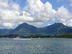 Sailing on Kaneohe Bay, Oahu, Hawaii