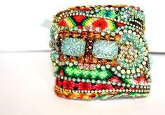 """Beaded Friendship Beauty. Joyce Lewis says, """"Oh my, would I love to have one of these! Wonder how long it would take me to make one?"""""""