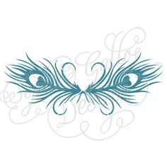 Peacock Feather Border SVG file for Cricut by SophiesPaperHouse