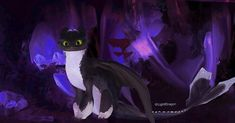 - my adult version of another Toothless ba. Httyd Dragons, Cute Dragons, Dreamworks Dragons, Httyd 3, Fantasy Dragon, Dragon Art, Baby Toothless, Toothless Dragon, Night Fury Dragon