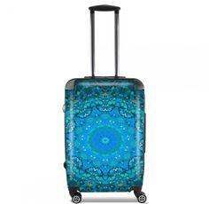 Valise SEAFOAM BLEU cabine trolley personnalisée by Monika Strigel 95 € #trolley #cabinetrolley #koffer #handgepäck #reisekoffer #kabinenkoffer #girlsontour #luggage #baggage #rolls #rollenkoffer