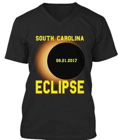 b3a75b37 South Carolina 08.21.2017 Eclipse Black T-Shirt Total Solar Eclipse August  2017 Shirt
