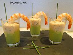 Verrines de mousse d'avocats et crème de crevettes - Les recettes de mimi