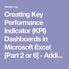 Creating Key Performance Indicator (KPI) Dashboards in Microsoft Excel [Part 2 or 6] - Adding Sort Feature   Chandoo.org - Learn Microsoft Excel Online