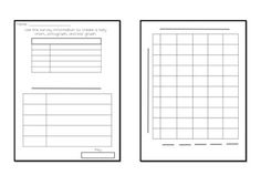 Once a survey has been given, students can use this worksheet to develop a tally chart and turn their survey data in a pictograph or bar graph.