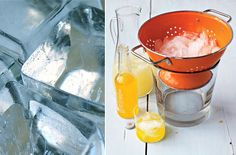 use a colander to serve ice!