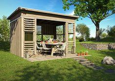 Bilderesultater for hagestue Outdoor Furniture Sets, Outdoor Decor, Patio, Pergola, Home Decor, Terrace, Interior Design, Home Interior Design, Arbors