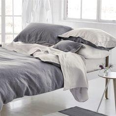 Biella Elephant Grey & Birch Bed Linen | Designers Guild