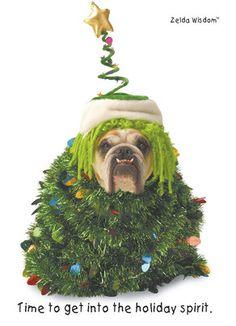 Christmas Tree Dog Card