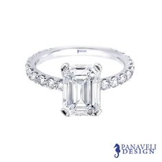 Emerald Cut Diamond Engagement Ring - i have always loved emerald cuts :)