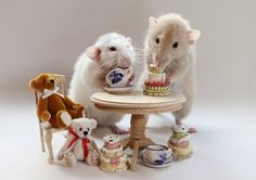The real-life Sylvanian Families! Photographers uses pet rats to create everyday…