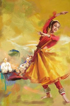 kathak dancer painting