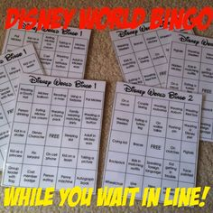 A Disney Mom's Thoughts: Walt Disney World Bingo