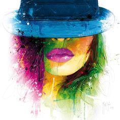 "JaxsonRea ""Coralie II"" by Patrice Murciano Graphic Art on Wrapped Canvas Size: Murciano Art, Frames On Wall, Framed Wall Art, Patrice Murciano, L'art Du Portrait, Urbane Kunst, Art Graphique, State Art, Urban Art"