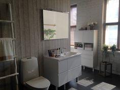 Topi-Keittiö kylpyhuone, ovi Koskeltus valkoinen listavetimellä Decor, Furniture, Corner Desk, Table, Home Decor, Kitchen, Desk