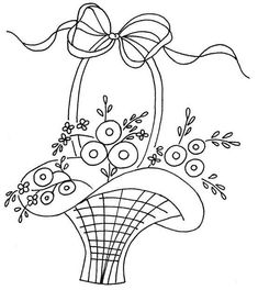 embroidery pattern/use buttons for the flowers
