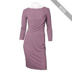 Philosophy by Alberta Ferretti Light Mauve Long Sleeve Jersey Dress