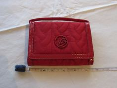 Vera Bradley wallet wristlet red quilted travel credit card coin purse compact #VeraBradley #CoinPurse