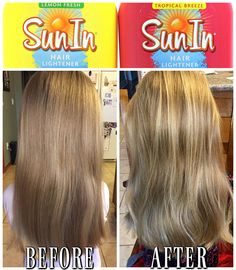 #ad Um... so the before/after of my daughters hair after using Sun In is INSANE. DIY Hair Highlights at home FTW!  Shop here >>> http://primp.in/9FD2r3kf6T  #SunInFunIn #PowerPrimper #hair