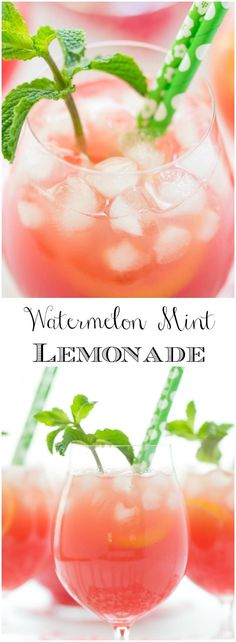 On a hot summer day, there's nothing like this Watermelon Mint Lemonade! It's refreshing, delicious, easy to put together and make-ahead.