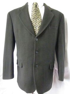 Jacket 40 R Cashmere Wool 3 Button Green Sport Blazer Coat Mens Casual Formal Blazer Coat Mens, Suit Jacket, Leather Jacket, Business Formal, Ebay Auction, Cashmere Wool, Mens Fashion, Fashion Trends, Men Casual