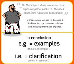 e.g. vs. i.e.-Great Infographics for Language Teachers Part 1 ~ Educational Technology and Mobile Learning