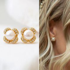 Buy Now Wedding Earrings Pearl Earrings Stud Earrings Bridal...