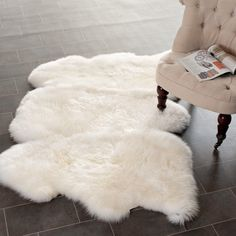 Sheep Skin 3x5 - Sheep Skin Rugs  --  always liked these...Ikea has 'em cheaper (though, surely the quality is different?)...oh yeah, and I'll be making my wingback chair soon!