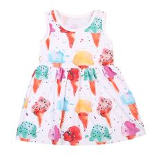 YOUNGER TREE Toddler Baby Girls Summer Skirt Floral Print Sleeveless Sling Dress Sundress Beach Dress