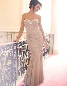 Lipsy V I P Sweetheart Embellished Ruched Maxi Dress