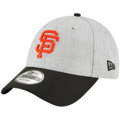 fe9d4425753 Men s San Francisco Giants New Era Heathered Gray Black 9FORTY The League  Adjustable Hat