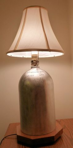 Scuba diver diving tank lamp by PSACustomCreations on Etsy, $75.00    Sooo want this!!