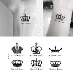 New Water Transfer Crown Waterproof Temporary Tattoo Sticker Sexy Product