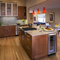 Kitchen Island With Stove Design, Pictures, Remodel, Decor and Ideas