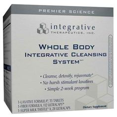 Cleanse and rejuvinate with Integrative's Whole Body Integrative Cleansing System. It's a simple 2-week supplement program that features no harsh laxatives. http://www.ovitaminpro.com/wholeclean.html